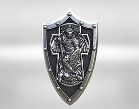 archangel Michael cross shield 3D printable model