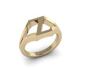 Jewelry Alphabet Ring Z 3D printable model