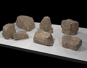 Rocks set 3D model realtime