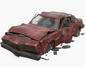 Wrecked Car 3D
