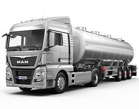3D model MAN TGX XLX Fuel Tank