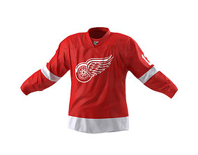 Hockey Jersey Detroit Red Wings 3D model