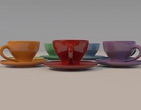ceramic teacups 3D