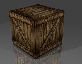 woodd box 3D asset