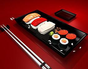 sushi plate 3D model