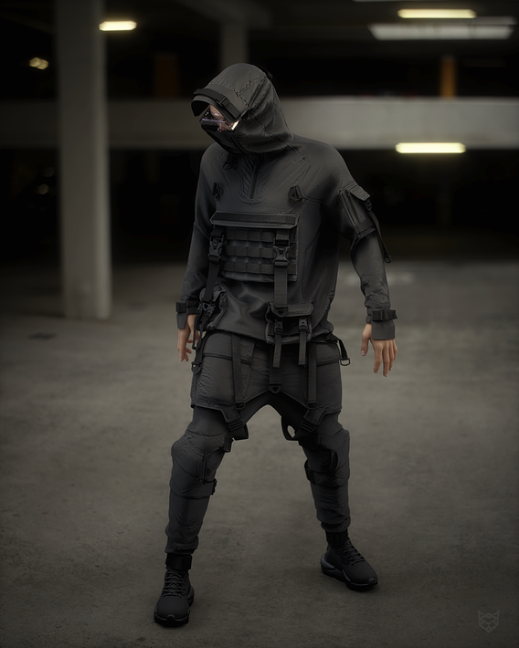 cyberpunk outfit male