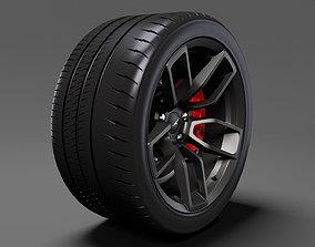 3D Dodge Challenger Hellcat Widebody 2017 wheel