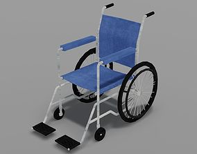 3D asset low-poly Wheelchair