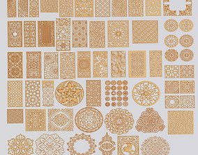 set of patterns 83 pieces 3D model classical