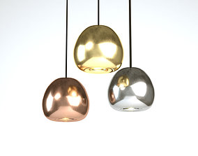 3D Tom Dixon Void Mini Copper Pendant