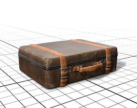 vintage suitcase 3D asset low-poly