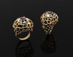 silver platinum 3D printable model Ring