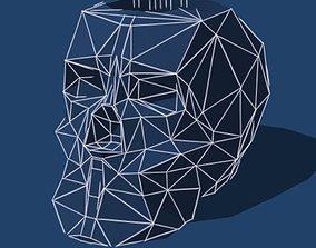 3D printable model Low Poly Skull Pencil Holder