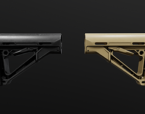 Magpul CTR AR15 Collapsible Buttstock 3D asset