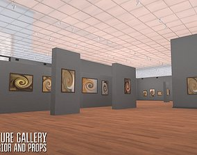 Picture gallery - interior and props 3D asset