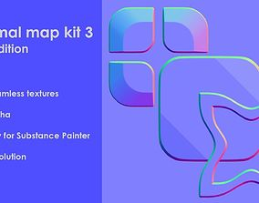 3D seamless Normal map kit 3 Tile edition