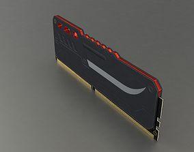 3D model SDRAM DIMM Memory