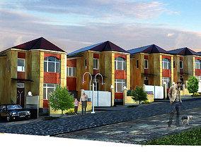Residential quarter 3D model