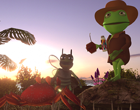 Toad Detective and friends 3D