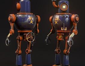 3D model Steam robot character