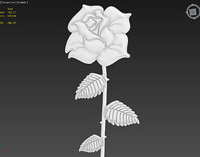 Rose Suitable for embossing Hot Foil Technique 3D