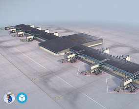 3D model Airport Terminal Satellite4 LFPG