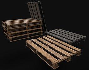 3D asset Wodden Pallets