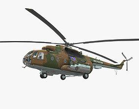 3D model VR / AR ready Mi-8MT Russian Air Force