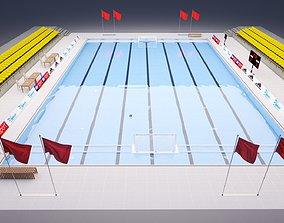 Olympic swimming pool 3D model