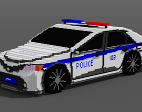 Police Toyota Camry 3D asset