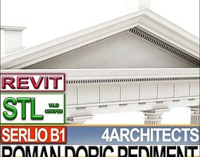 Roman Doric Pediment Serlio Block B1 3D print model