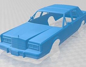 Lincoln Town Car 1989 Printable Body Car