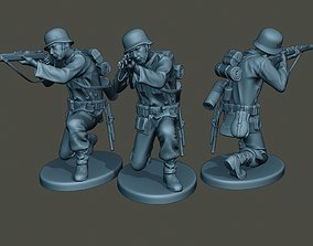 3D print model German soldier ww2 Shoot crouched G1