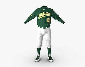 3D Baseball Player Outfit Athletics 3