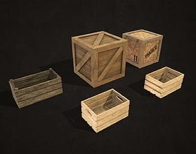 logistic Wooden Crates 3D model VR / AR ready PBR