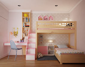 children 3D model Children bedroom