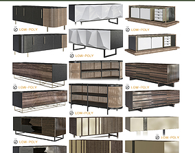3D model Chest of drawers 10 pieces