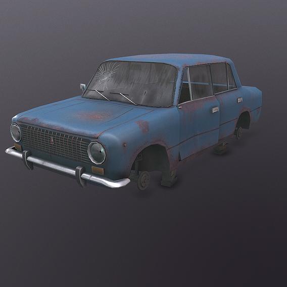 Abandoned soviet car