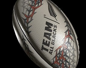 rugby ball 3 3D model
