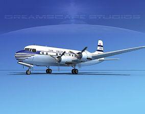 Douglas DC-6 Pan American 3D model