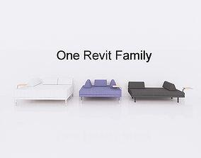 FLOTTEBO sleeper sofa - Full parametric Revit 3D model
