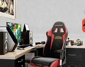 3D model Gamer Desk League of Legends chair