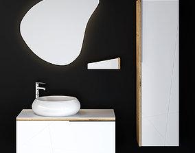 3D Modern Bathroom Furniture oval