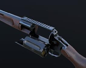 3D asset MTs255 revolver shotgun