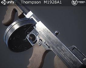 Thompson M1928A1 Submachine Gun 3D asset