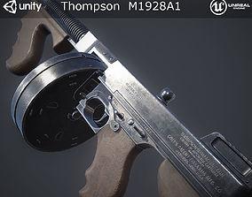 3D asset Thompson M1928A1 Submachine Gun