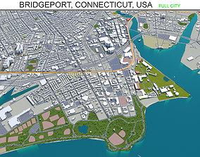 Bridgeport Connecticut USA 30km 3D model