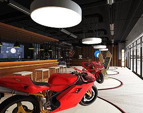 3D model Bike Showroom VR AR Game Ready