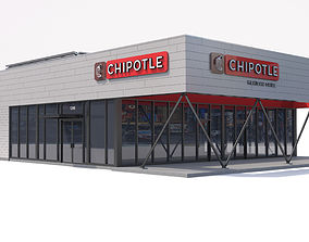 Chipotle Restaurant 3D model