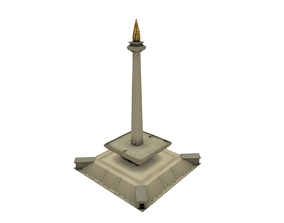 Monas National Monument Indonesian country 3D asset